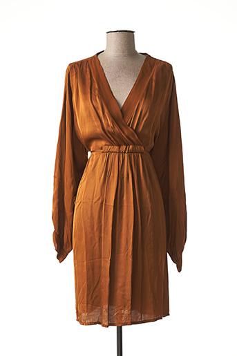 Robe mi-longue marron PAKO LITTO pour femme