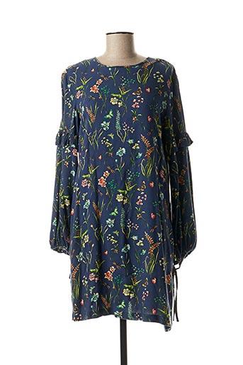 Robe mi-longue bleu EDC pour femme