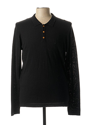 Pull col chemisier noir PEARLY KING pour homme