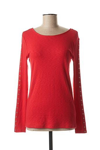 Pull col rond rouge EDC pour femme