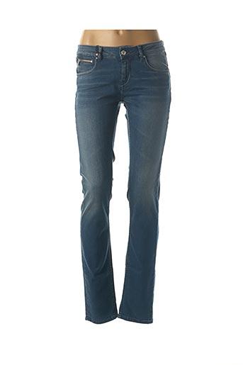 Jeans coupe slim bleu SCHOOL RAG pour femme