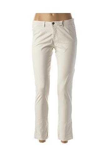 Jeans coupe slim blanc SCHOOL RAG pour femme