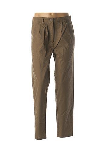 Pantalon casual vert SCHOOL RAG pour femme