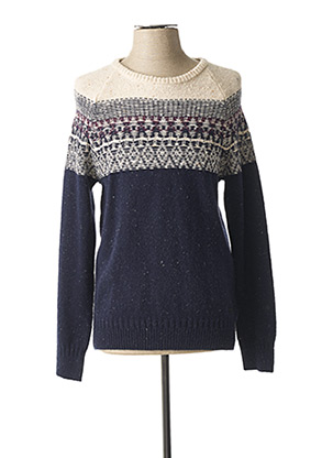 Pull col rond bleu LEE pour homme