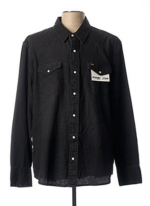 Chemise manches longues noir WRANGLER pour homme
