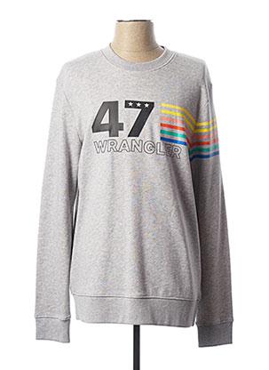 Sweat-shirt gris WRANGLER pour homme