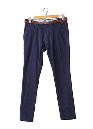 Pantalon casual bleu EL GANSO pour homme