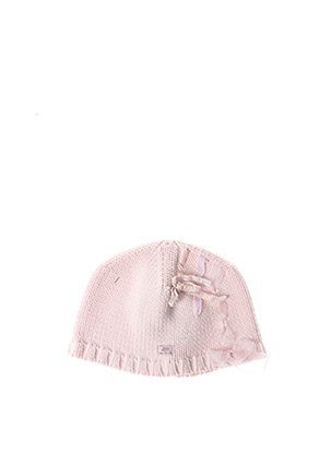 Bonnet rose LILI GAUFRETTE pour fille