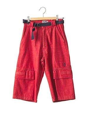 Bermuda rouge FLORIANE pour garçon