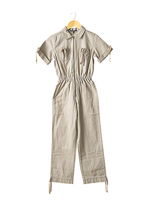 Combi-pantalon gris LILI GAUFRETTE pour fille