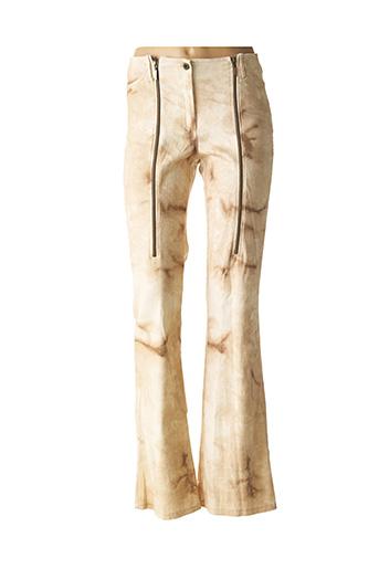 Pantalon casual beige DP JEANS pour femme
