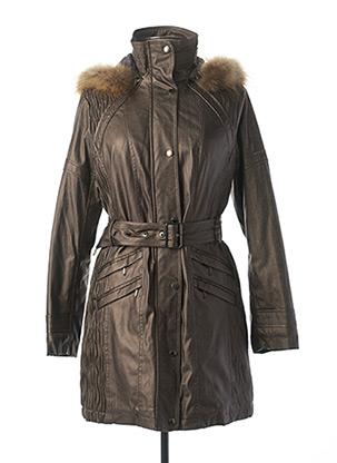 Manteau long marron FRED SABATIER pour femme