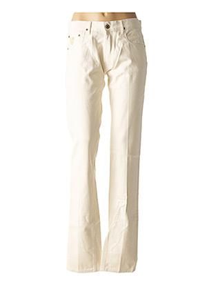 Jeans coupe droite beige APRIL 77 pour femme