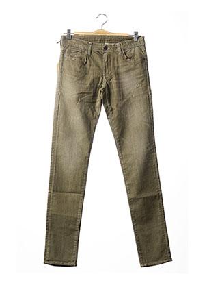 Jeans coupe slim vert LE TEMPS DES CERISES pour garçon