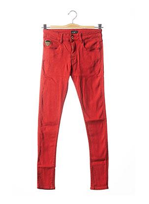Pantalon casual rouge APRIL 77 pour femme