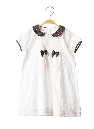 Robe mi-longue blanc CHICCO pour fille