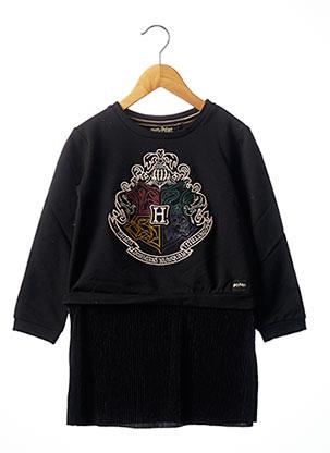 Robe mi-longue noir IKKS pour fille