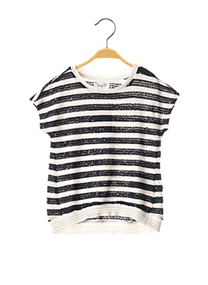 Pull col rond noir CHICCO pour fille