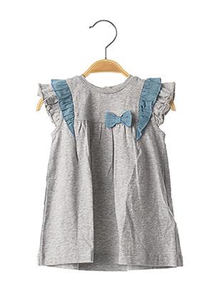 Robe mi-longue gris CHICCO pour fille