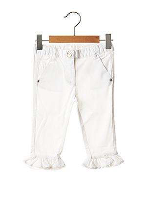 Pantalon casual blanc CHICCO pour fille