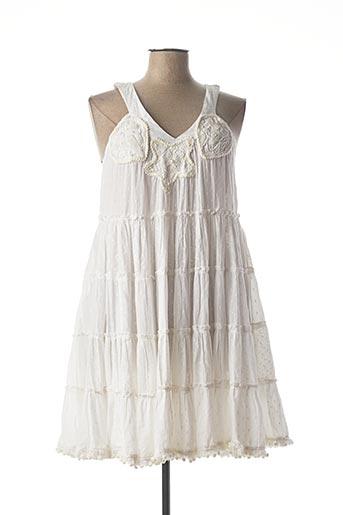 Robe courte blanc GIACOMO pour femme