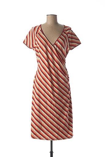 Robe mi-longue orange KING LOUIE pour femme