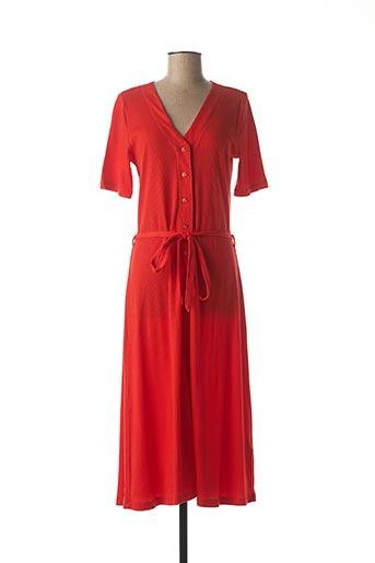 Robe mi-longue rouge KING LOUIE pour femme