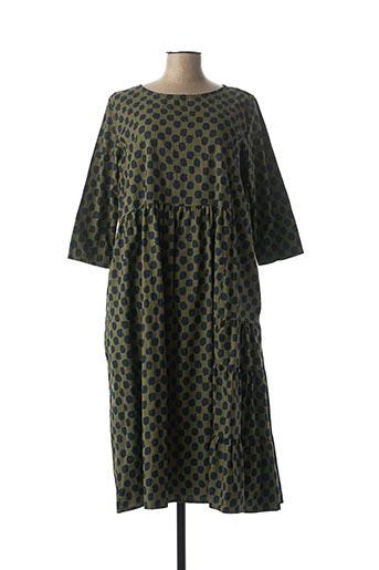 Robe mi-longue vert WENDY TRENDY pour femme