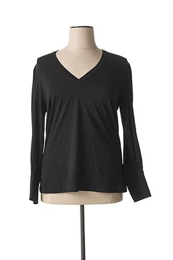 T-shirt manches courtes noir MAT. pour femme