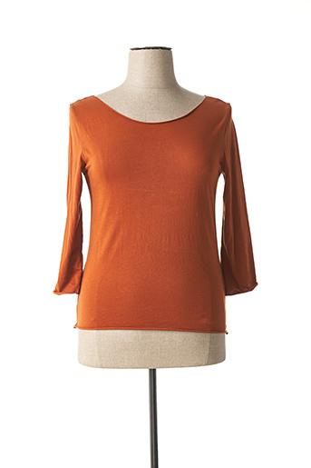 T-shirt manches longues marron WENDY TRENDY pour femme