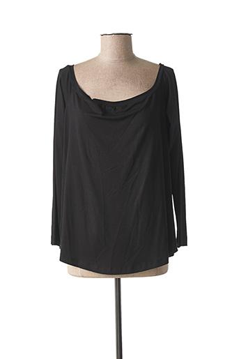 T-shirt manches longues noir MAT. pour femme