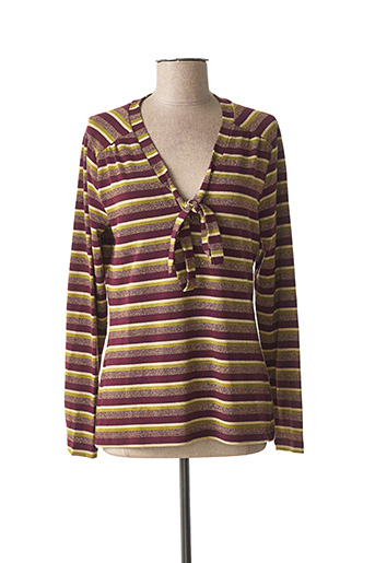 T-shirt manches longues violet KING LOUIE pour femme
