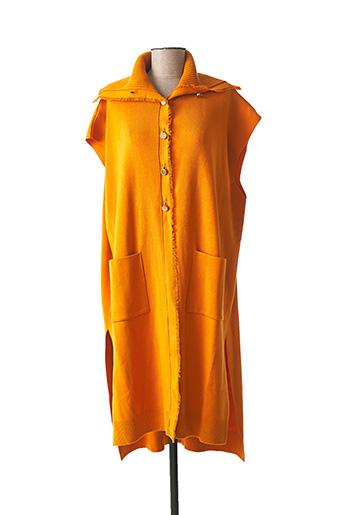 Gilet sans manche orange MAT. pour femme