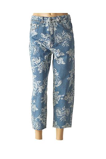 Pantalon 7/8 bleu WIYA pour femme