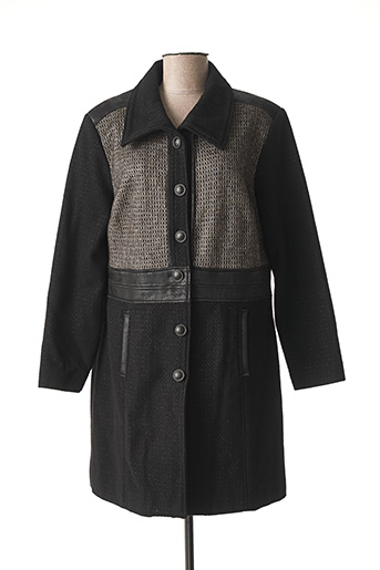 Manteau long noir JEAN GABRIEL pour femme