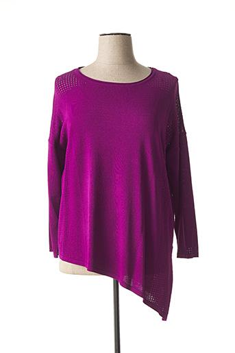 Pull tunique violet MARBLE pour femme
