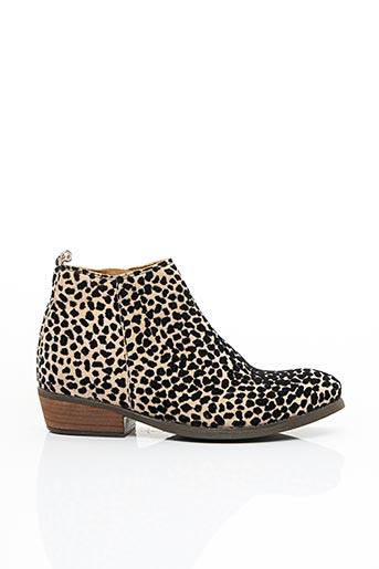 Bottines/Boots beige ALIWELL pour femme