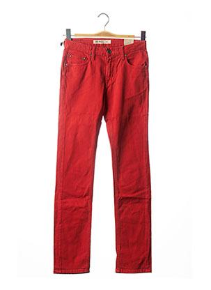 Jeans coupe slim rouge TEDDY SMITH pour enfant