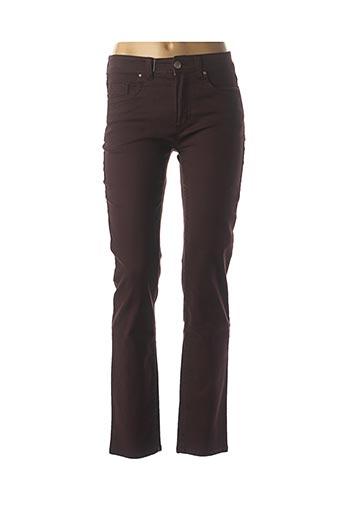 Jeans coupe slim violet ANNA MONTANA pour femme