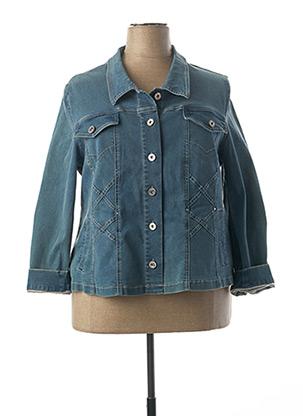 Veste en jean bleu CHRISTINE LAURE pour femme