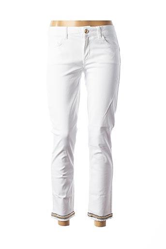 Jeans coupe droite blanc LIU JO pour femme