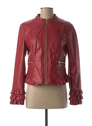 Veste simili cuir rouge XT STUDIO pour femme