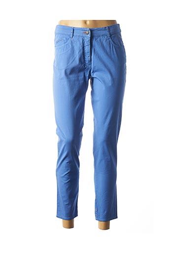 Pantalon 7/8 bleu FLEUR DE SEL pour femme