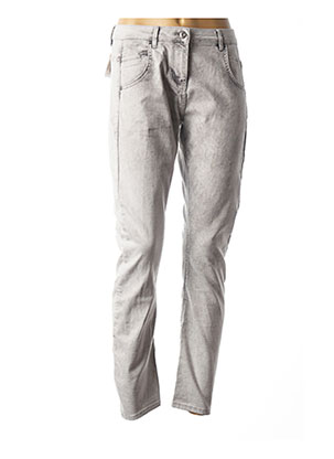 Jeans coupe slim gris SANDWICH pour femme