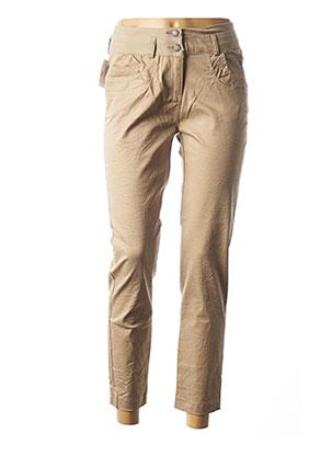Pantalon 7/8 marron ANGELS NEVER DIE pour femme