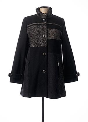 Manteau long noir CHRISTINE LAURE pour femme