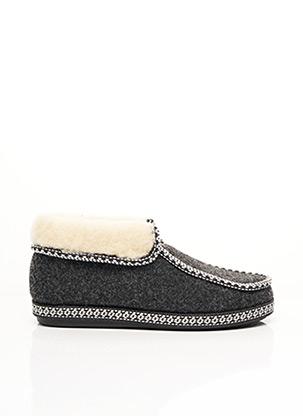 Chaussons/Pantoufles gris ALGAR pour femme