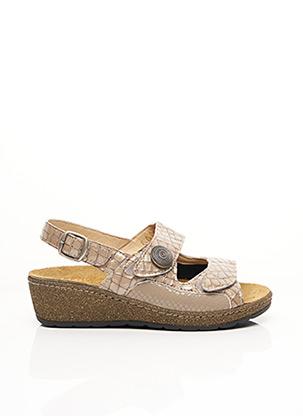 Sandales/Nu pieds beige FLORETT pour femme