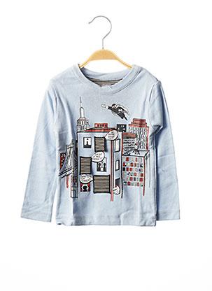 T-shirt manches longues bleu MILK ON THE ROCKS pour garçon