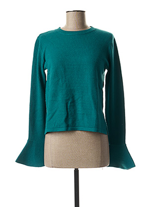 Pull col rond vert PAUL BRIAL pour femme